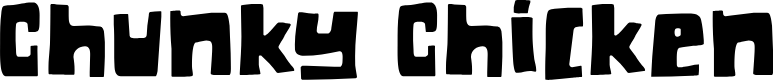 Preview image for DKChunkyChicken Font