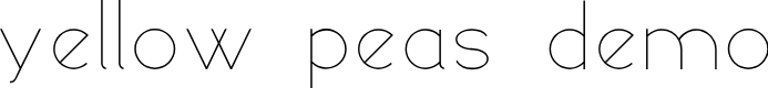 Preview image for yellow peas demo Font