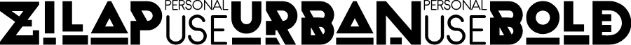 Zilap Urban Bold font