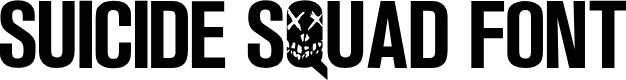 Preview image for Suicide Squad Font