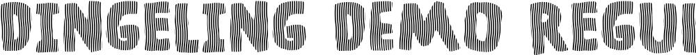 Preview image for Dingeling DEMO Regular Font
