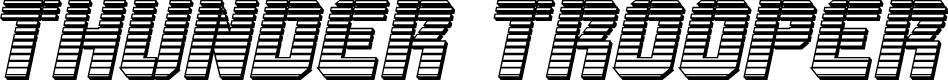 Preview image for Thunder Trooper Chrome Italic