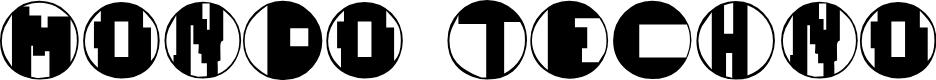 Preview image for Mondo Techno Font