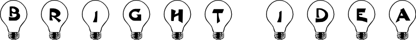 Preview image for 101! Bright Idea Font