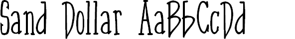 Preview image for Sand Dollar Font