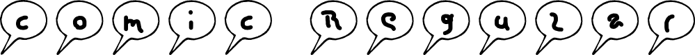 Preview image for comic Regular Font