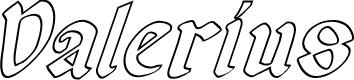 Preview image for Valerius Outline Italic