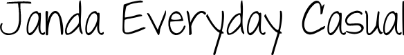 Preview image for Janda Everyday Casual Font