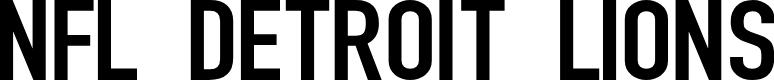 Preview image for NFL Detroit Lions Font
