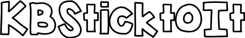 Preview image for KBSticktoIt Font