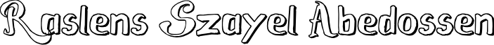 Raslens Szayel Abedossen