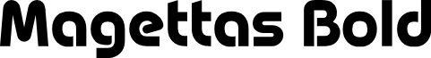 Magettas DEMO Bold font