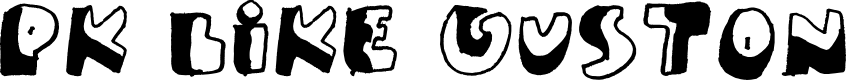 Preview image for PK Like Guston Font