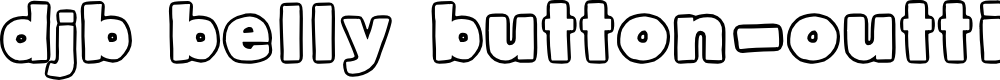 Preview image for DJB Belly Button-Outtie Font