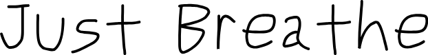 Preview image for Just Breathe Font