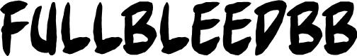 Preview image for FullBleedBB Font