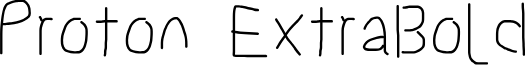 Proton ExtraBold
