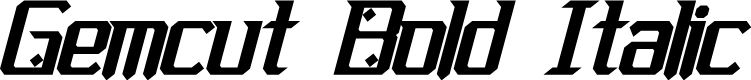 Preview image for Gemcut Bold Italic