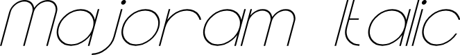 Preview image for Majoram Italic