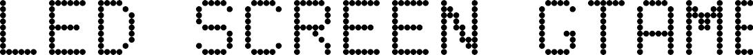 Preview image for LED SCREEN GTAMBLOG CAPS+ 2.0 Regular Font