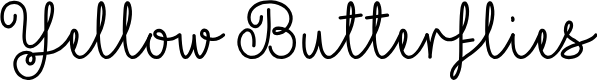 Preview image for Yellow Butterflies Font