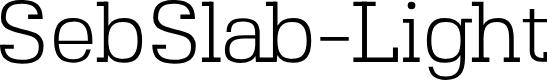 Preview image for SebSlab-Light Font