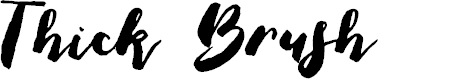 Preview image for Thick Brush Demo Font