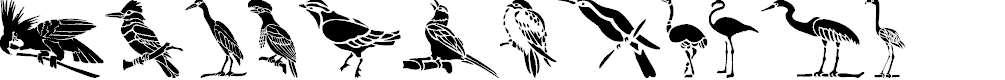 Preview image for HFF Bird Stencil Font