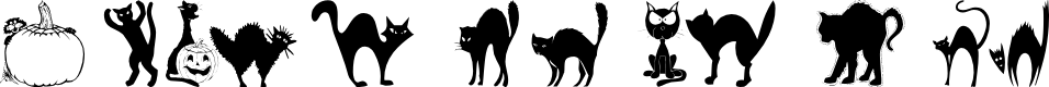 Preview image for 101! Black KatZ Font