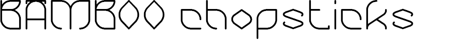 Preview image for BAMBOO chopsticks Font