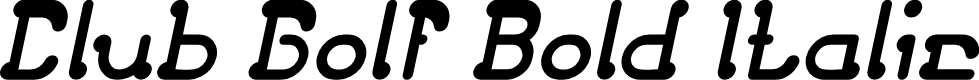 Preview image for Club Golf Bold Italic
