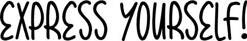 Preview image for Express Yourself Font