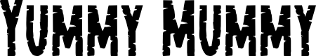 Preview image for Yummy Mummy Font