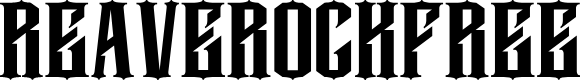 Preview image for Reaverockfree Font