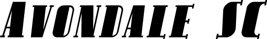 Preview image for Avondale SC Italic