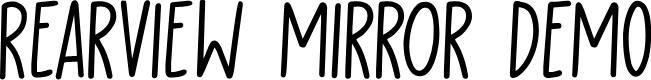 Preview image for Rearview Mirror DEMO Regular Font