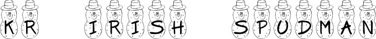 Preview image for KR Irish Spudman Font