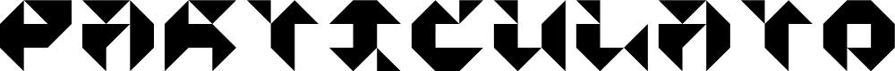 Preview image for Particulator III Regular Font