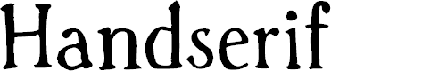 Preview image for Handserif Font