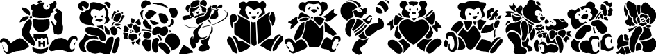 Preview image for TeddyBears2 Font