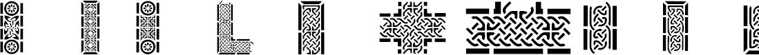 Preview image for Celtic Designs I Font