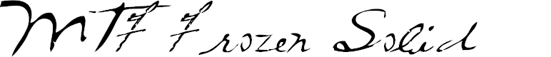 Preview image for MTF Frozen Solid Font
