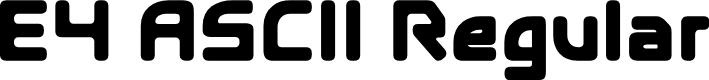 Preview image for E4 ASCII Regular