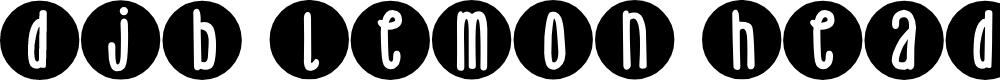 Preview image for DJB Lemon Head Dots Font