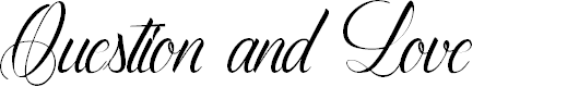 Preview image for QuestionandLove Font