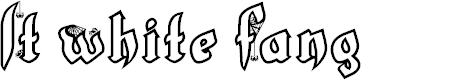 Preview image for LT White Fang Font