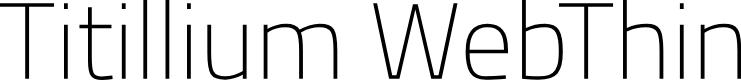 Preview image for Titillium WebThin