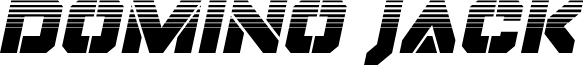 Domino Jack Halftone Italic Italic