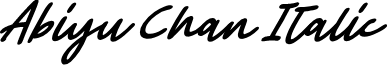 Abiyu Chan Italic