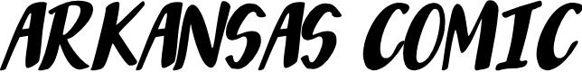 Preview image for Arkansas Comic Font